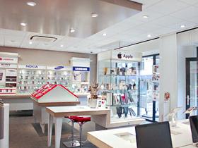 Belpunt Telecombinatie binnenkant winkel