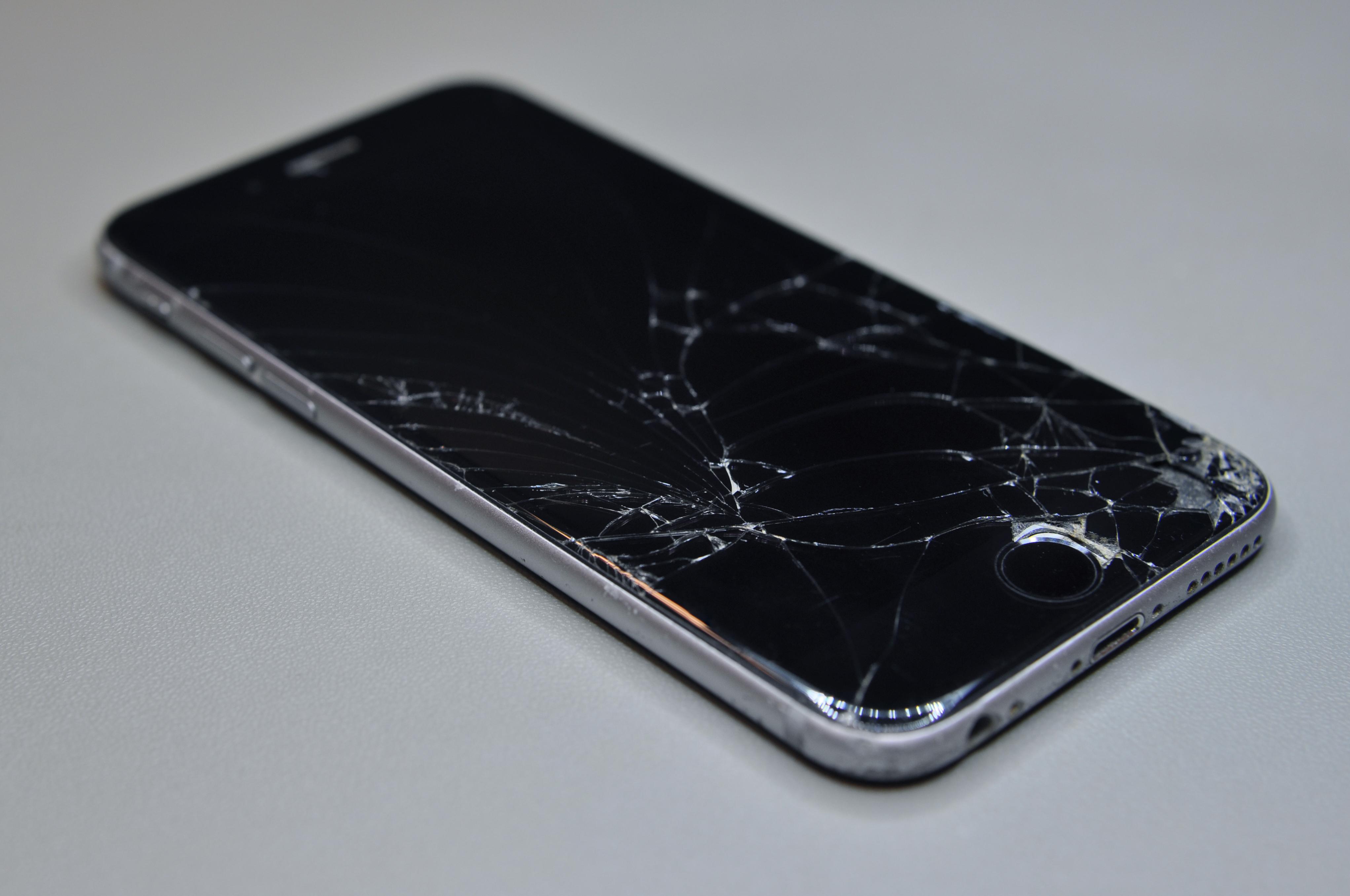Reparatie telefoon barst scherm