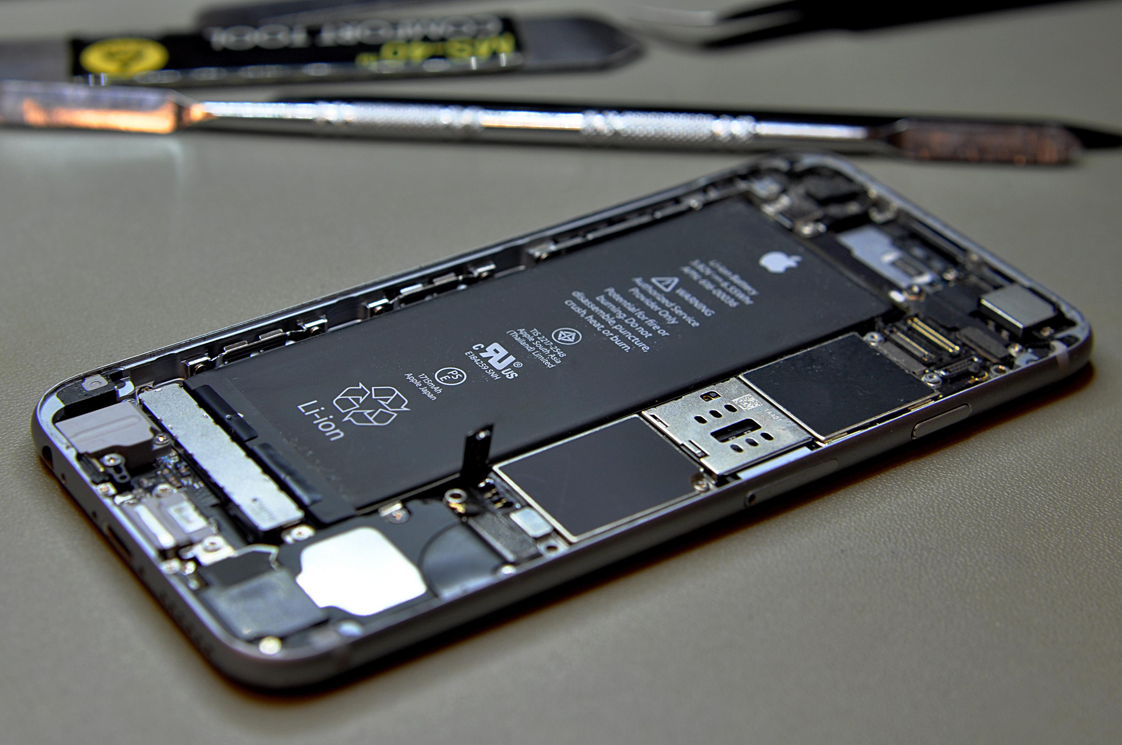 Reparatie telefoon open